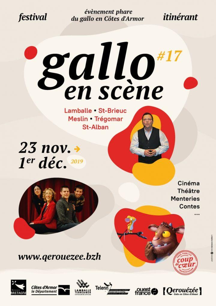"""Affiche Festival """"Gallo en scène"""""""