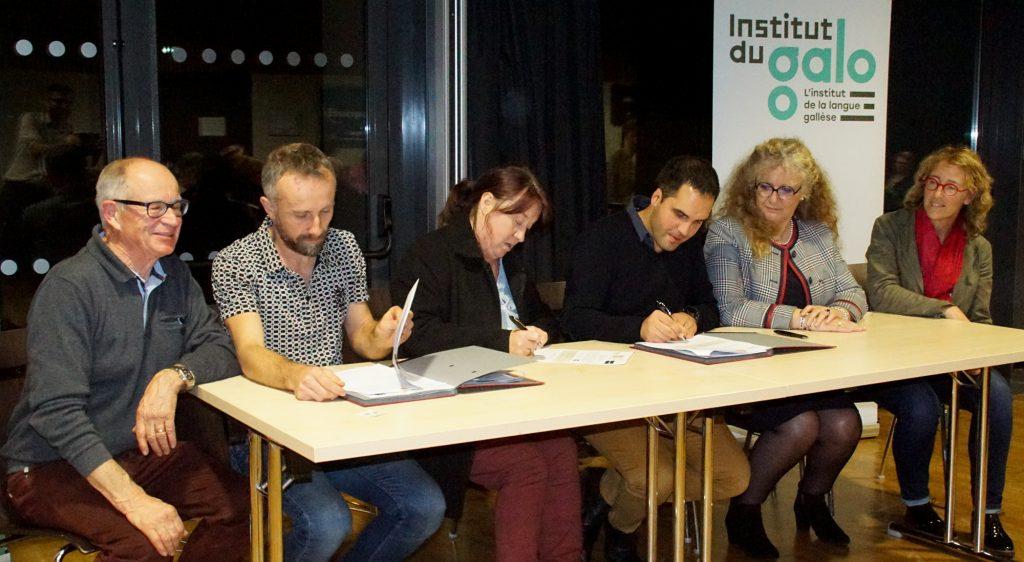 Signature de la Charte du Galo en 2019